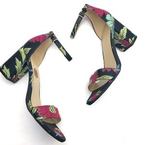 MARC FISHER Embroidered Block Heels